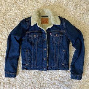 LEVI'S | Sherpa Trucker Denim Jacket Small